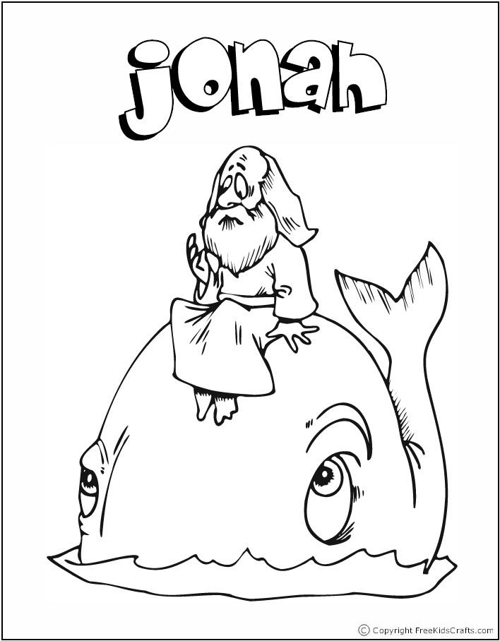 Historia de Jonás para colorear ( actividades para