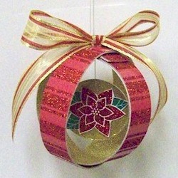 Ornament made from scraps of scrapbook paper