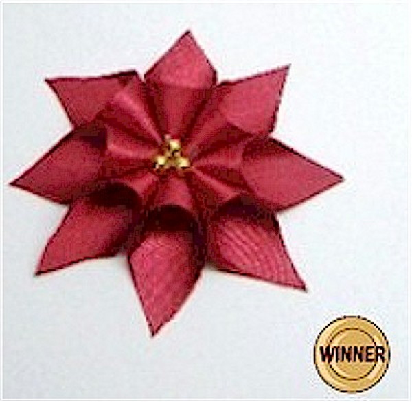 Easy illustrated instructions for making a Poinsettia