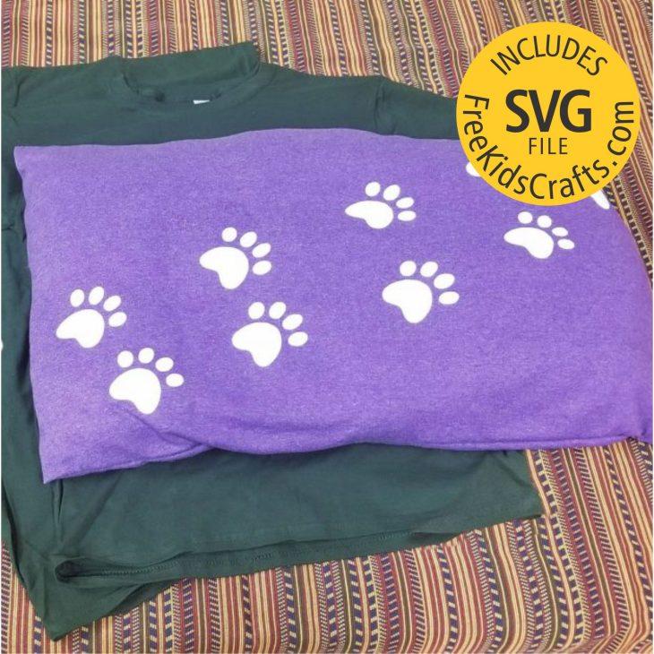 Paws Tee Shirt Dog Bed