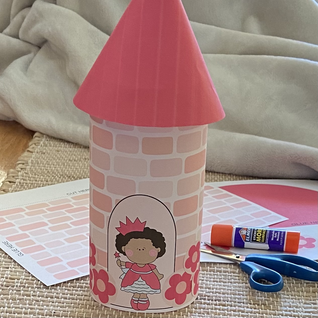 Easy DIY Castle appropriate for small children