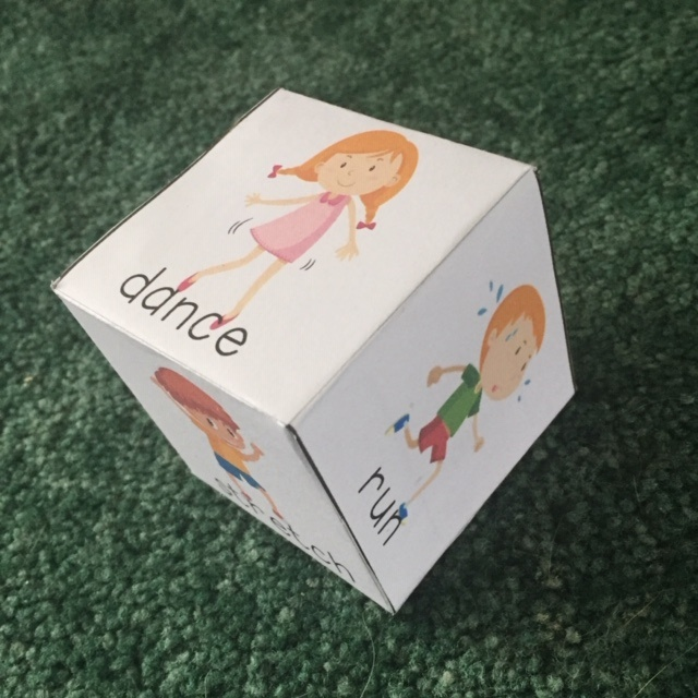 Image of Printable Fun Fitness Exercise Cube