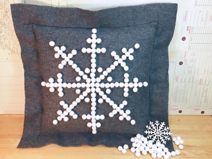 Felt Snowflake Pillow