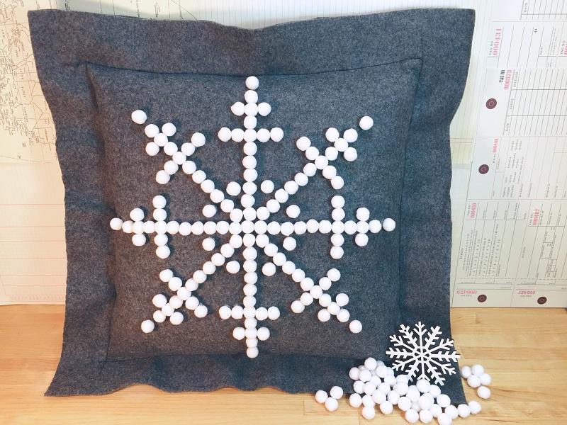 Image of Felt Snowflake Pillow