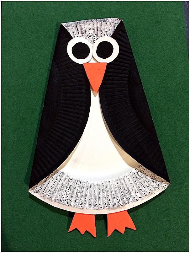 & Paper Plate Penguin