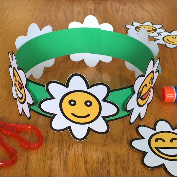 Printable Daisy Crown