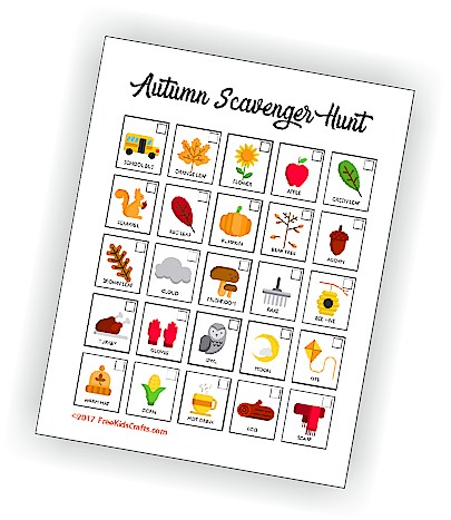 photo regarding Fall Scavenger Hunt Printable called Printable Autumn Scavenger Hunt