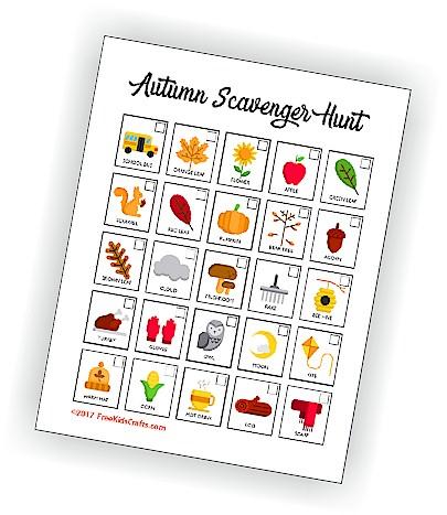 photo regarding Fall Scavenger Hunt Printable called Printable Autumn Scavenger Hunt