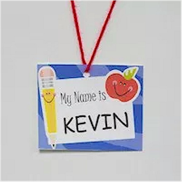 Image of Back To School Name Tag