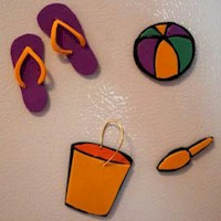 Image of Foam Beach Refrigerator Magnets or Swaps