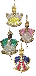 Image of Beaded Safety Pin Angel Ornaments