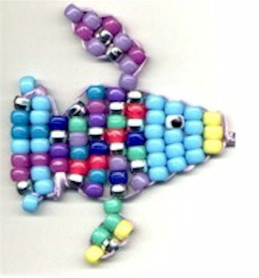 Image of Colorful Beaded Rainbow Fish