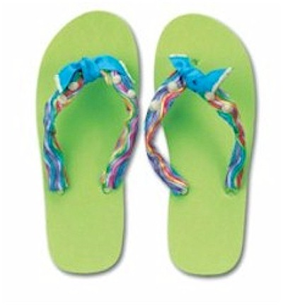 Image of Beaded Flip Flops