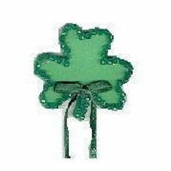 Faceted Shamrock Pin