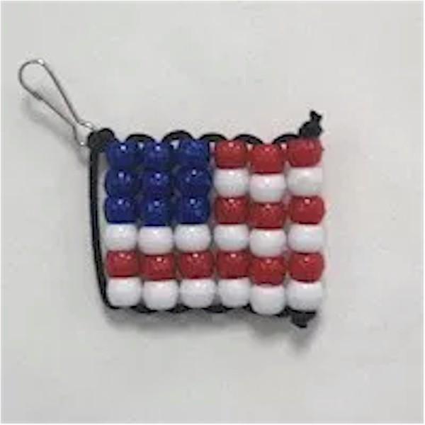 Image of Beaded USA Flag