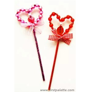 Beaded Valentine Wand
