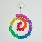 Image of Rainbow Beaded Suncatcher