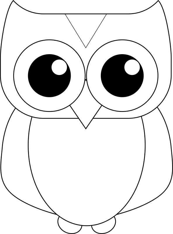 bean-owl-mosaic-pattern - Free Kids Crafts