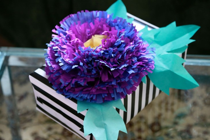 Fringed Tissue Paper Flower Decoration