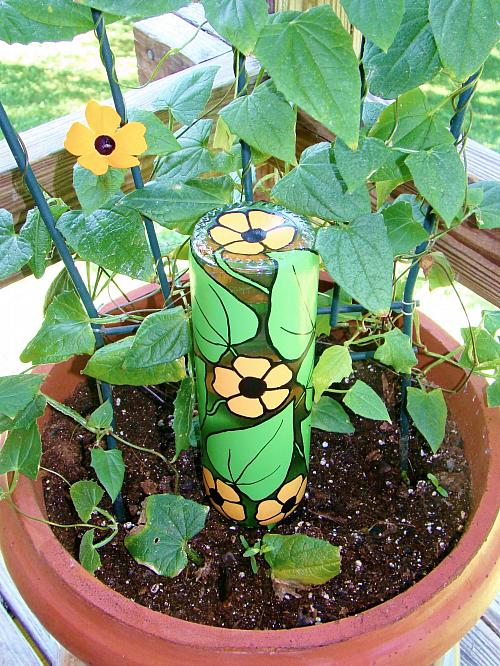 Image of Recycled Wine Bottle Plant Waterer