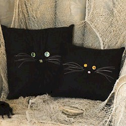 Black Cat Pillows