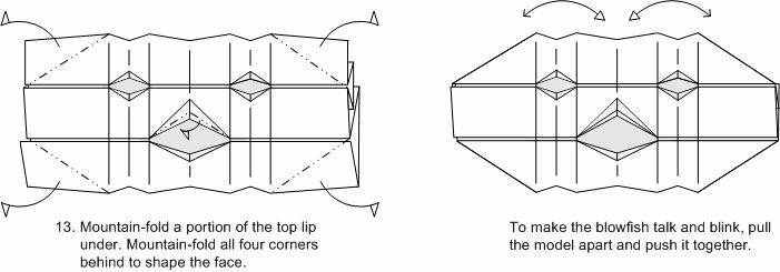 Origami Blowfish