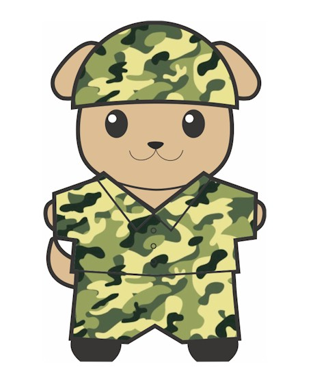 Image of Military Buddy Paper Doll