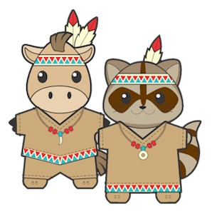 Native American Buddies Paper Dolls