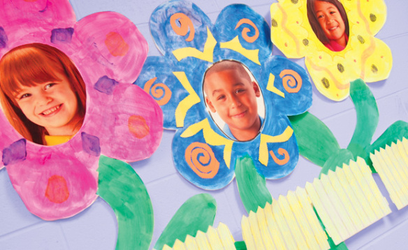Image of Bulletin Board Flower Faces