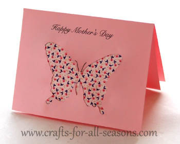 Printable Butterfly Mother's Day Card