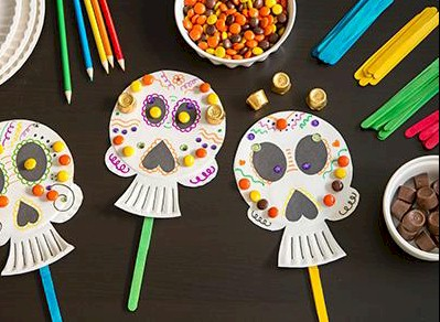 Image of Calaverita Paper Plate Mask