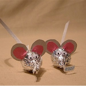 Image of Mice Made with Candy Kisses