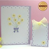 Matching Spring Card and Gift Tag
