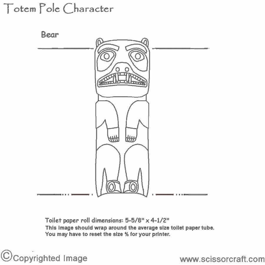 Tlingit Totem Pole Animals Template
