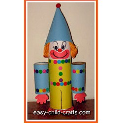 Image of Cardboard Tube Clown