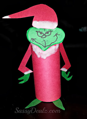 Image of Cardboard Tube Grinch