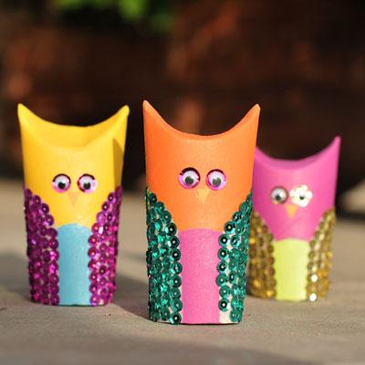 Image of Cardboard Tube Owls