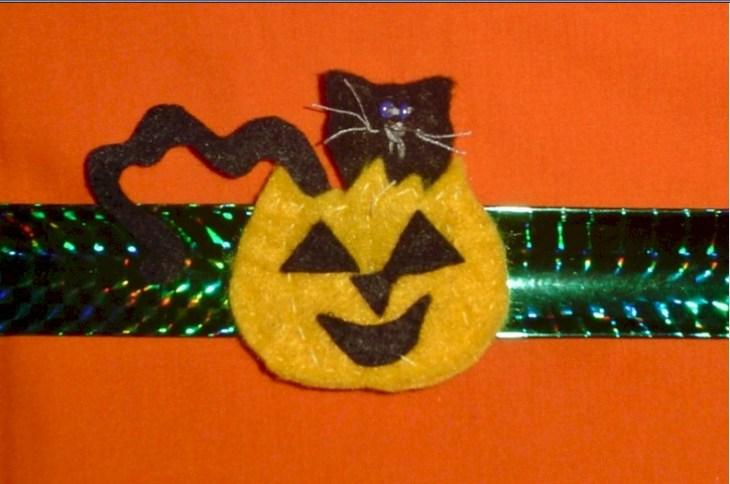 Halloween Black Cat Slap Bracelet