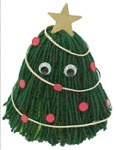 Image of Tissue Paper Christmas Tree Decoration