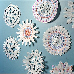 Coffee Filter Snowflakes With A Message