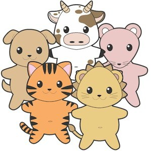 Image of Printable Buddy Pets Paper Dolls Color