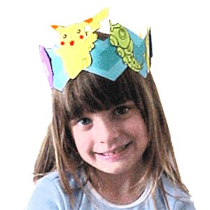 Image of Coloring Book Crown Craft