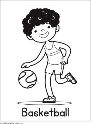 coloring pages phycial activites - photo#35