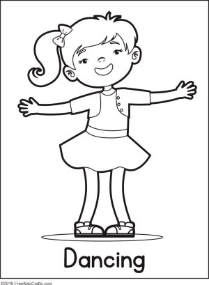 Image of Physical Activity Coloring Pages