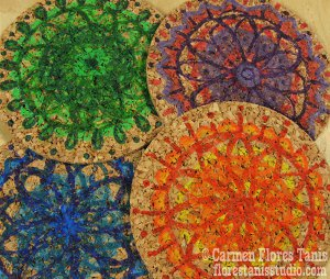 Image of DIY Cork Spirograph Coasters