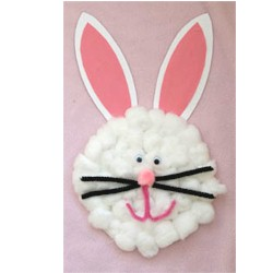Cotton Ball Easter Bunny