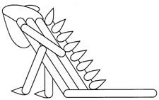 Craft Stick Iguana