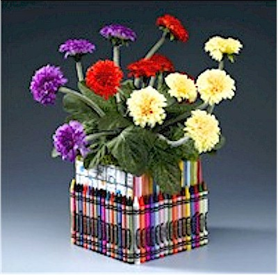 Image of Crayon Flower Holder