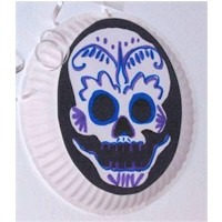 Image of Paper Plate Day of the Dead Mask