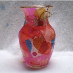 Decoupage Vase for Valentines Day